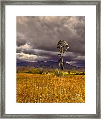 Windmill Framed Print by Robert Bales