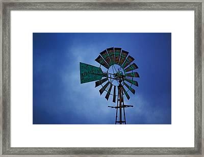 Windmill Framed Print by Rowana Ray