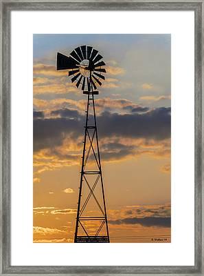 Windmill Silhouette Framed Print