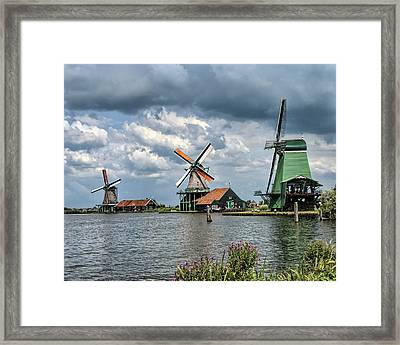 Windmill Trio Framed Print