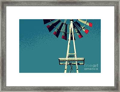 Framed Print featuring the digital art Windmill by Valerie Reeves