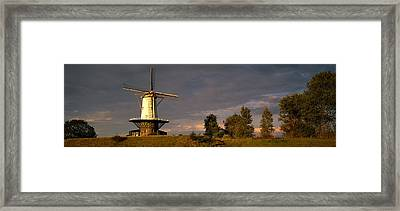 Windmill Veere Nordbeveland The Framed Print by Panoramic Images