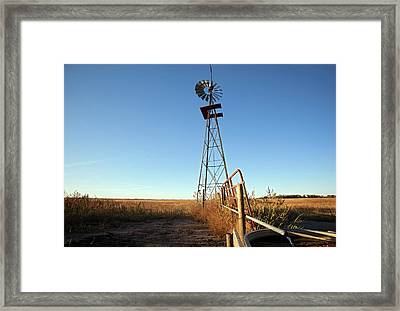 Windmill Water Pump Framed Print by Jim West