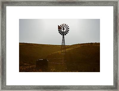 Windmill Water Pump Texas Framed Print by Christine Till