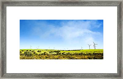 Windmill Framed Print by Yew Kwang