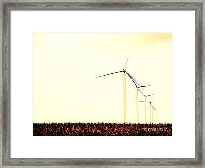 Windmills 1 Framed Print by A K Dayton