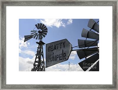 Windmills 1 Framed Print by Bob Christopher