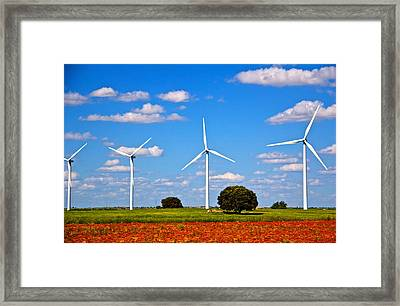 Windmills Framed Print by Galexa Ch