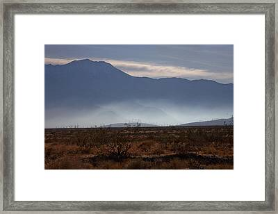 Windmills In The Fog Framed Print