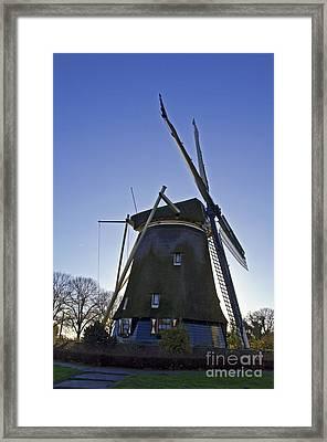 Windmills Of Holland Framed Print by Pravine Chester