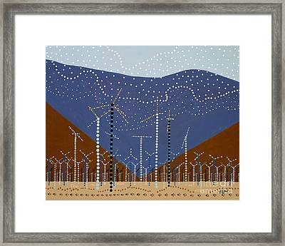 Windmills Of The Coachella Valley Framed Print by Linda Wolf