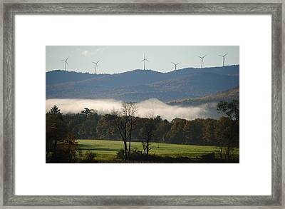 Framed Print featuring the photograph Windmills by Paul Noble