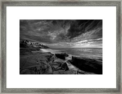 Windnsea Clouds Framed Print by Peter Tellone