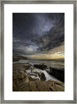 Windnsea Light Found Framed Print by Peter Tellone