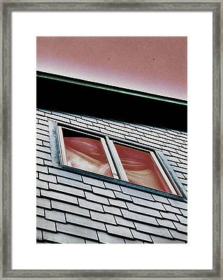 Window Above Framed Print by Stephanie Grooms