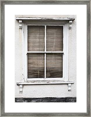 Window And Blind Framed Print by Tom Gowanlock