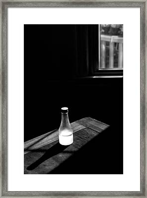 Window And Bottle Framed Print by Guillermo Hakim