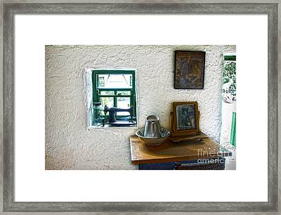 Window And Little Dressing Table In An Old Thatched Cottage Framed Print by RicardMN Photography
