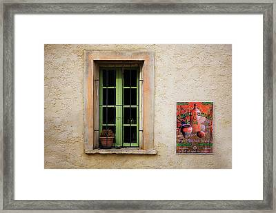 Window And Poster In Minerve Framed Print