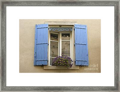 Window And Shutters Framed Print by John Shaw