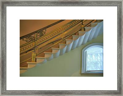 Window And Stairway Framed Print by Steven Ainsworth