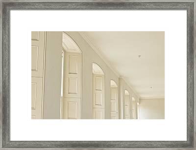 Window Arches Framed Print