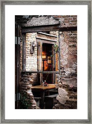 Window Art Framed Print