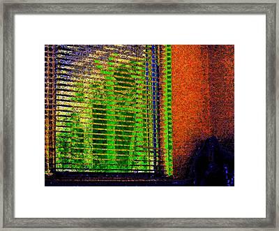 Window At Night Framed Print