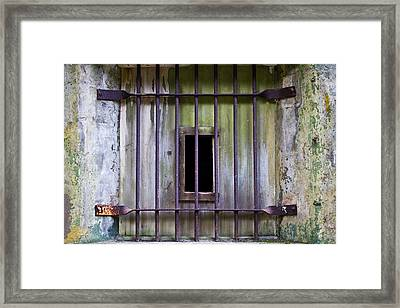 Window At The Fort Framed Print by Marie Jamieson