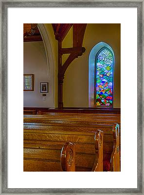 Window Behind The Nave Framed Print