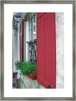 Window Box 1 Framed Print by Sarah-jane Laubscher