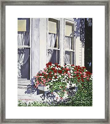 Window Box Colors Framed Print by David Lloyd Glover