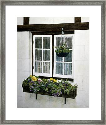 Framed Print featuring the painting Window Box by Tom Wooldridge