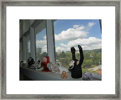 Window Buddies Framed Print by Bernie Smolnik