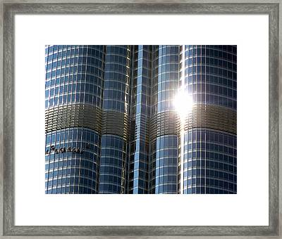 Framed Print featuring the photograph Window Cleaners Burj Khalifa by Henry Kowalski