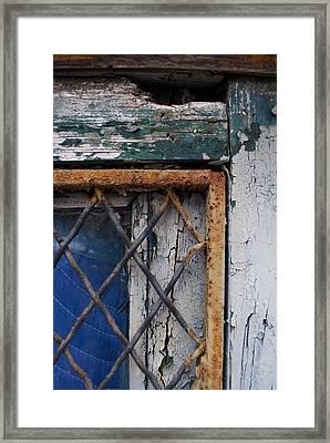 Window Corner Framed Print by Gretchen Lally