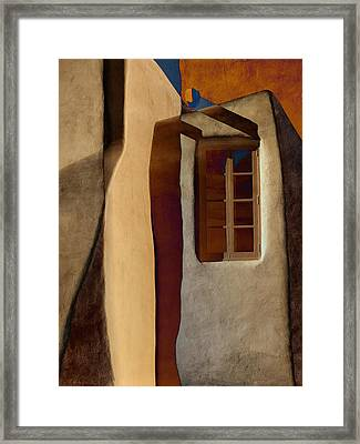 Window De Santa Fe Framed Print by Carol Leigh
