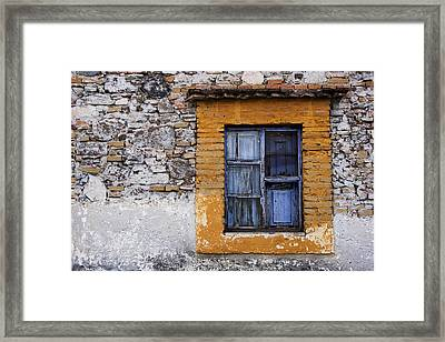 Window Detail Mexico Framed Print