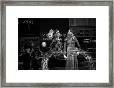 Window Display In Chicago 1973 Framed Print