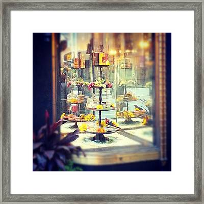 Window Display Framed Print