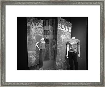 Window Display Sale With Mannequins No.1292 Framed Print