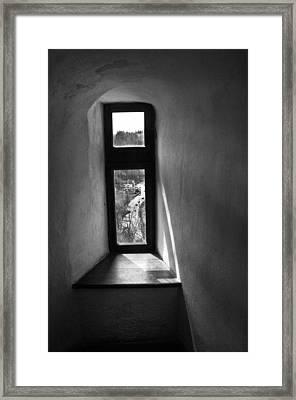 Window Dracula's Castle Interior204 Framed Print by Dorin Stef