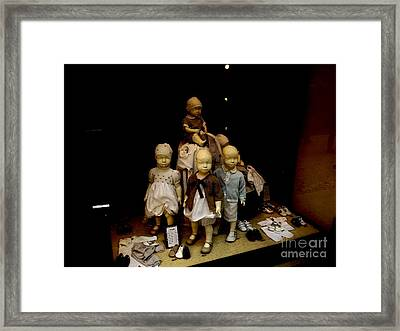 Window Dressed Framed Print