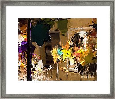 Window Dressing As Still Life Framed Print