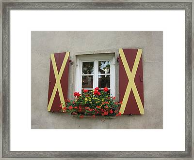 Window Dressing Framed Print