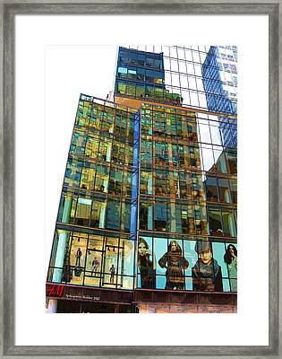 Window Fashion Framed Print by Aleksander Rotner