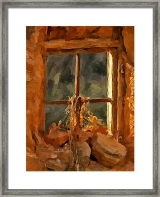 Window From The Past Framed Print by Michael Pickett