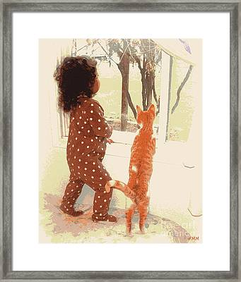 Framed Print featuring the photograph Window Gazing  by Heidi Manly
