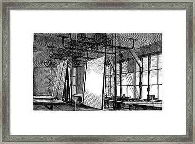 Window Glass Production Framed Print
