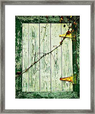 Window Hatch Framed Print by Chris Berry